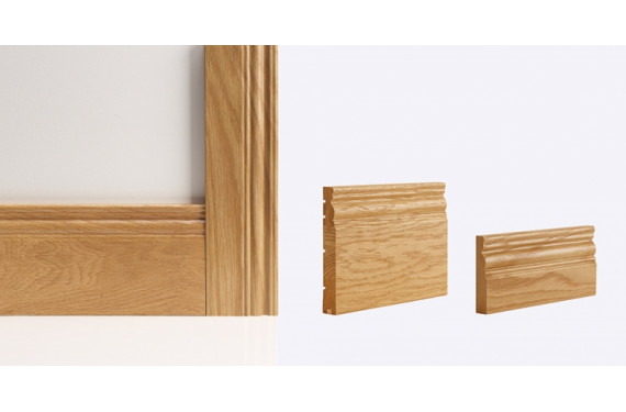 Georgian Architrave 90mm X 16mm (set Covers Both Sides Of The Door)