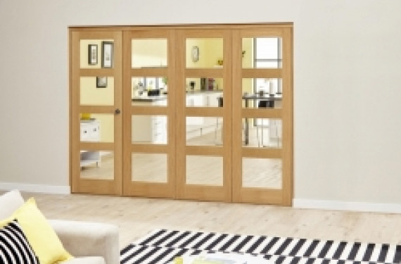 Oak 4l - 3 + 1 Door Roomfold Deluxe 2370mm X 2078mm ( 2400mm Set )