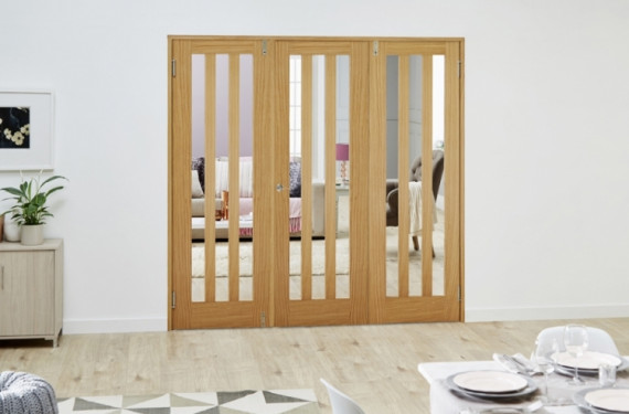 Aston Oak - 3 Door Frenchfold (3 X 2'3