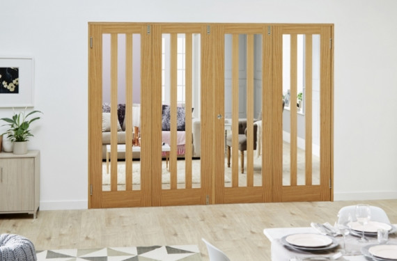 Aston Oak - 4 Door Frenchfold (4 X 2'3