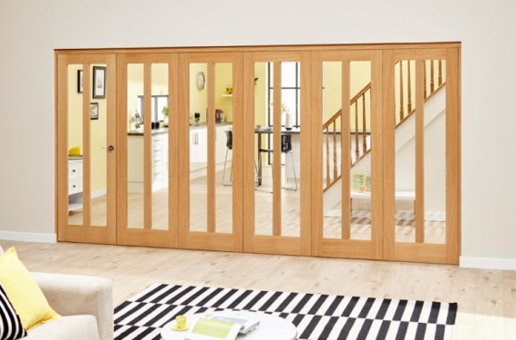 Aston Oak - 6 Door Roomfold Deluxe (5 + 1 X 610mm Doors)