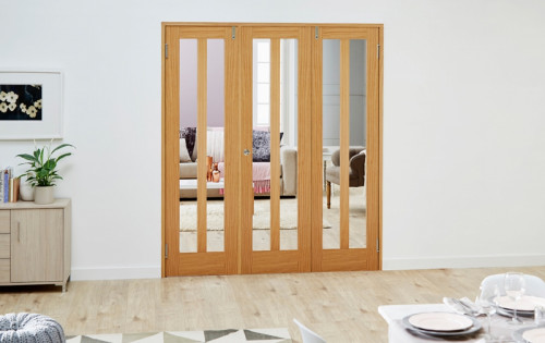 Aston Oak Frenchfold Room Divider