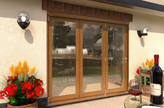 Climadoor Solid Oak Bifold Door 2400mm (8ft)