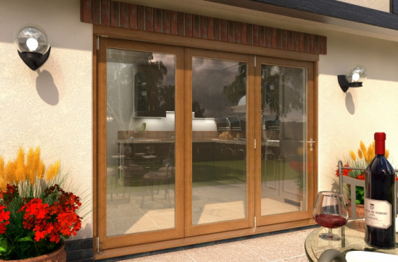 Climadoor Solid Oak Bifold Door 2700mm (9ft)