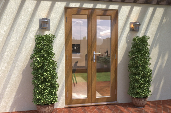 Climadoor Solid Oak French Doors 1200mm