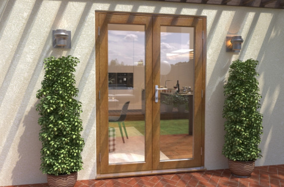Climadoor Solid Oak French Doors 1500mm