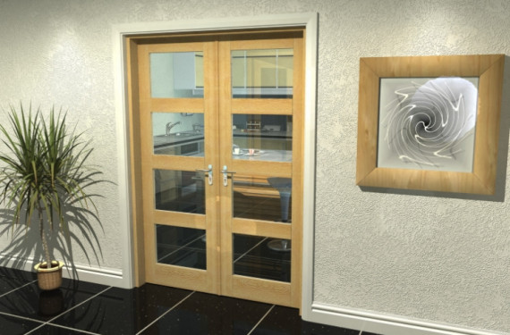 Oak 4l French Door Set  - 24