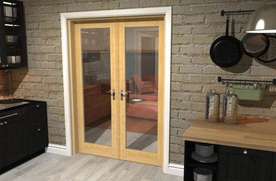 P10 Oak French Door Set - 27