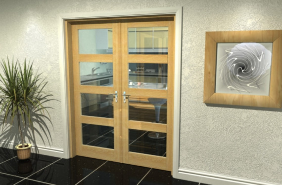 Oak 4l French Door Set  - 30