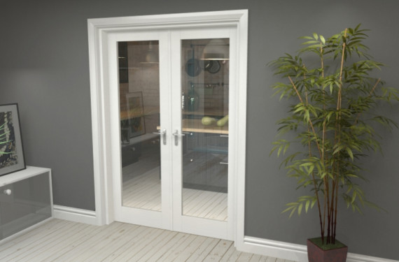 P10 White French Door Set  - 27