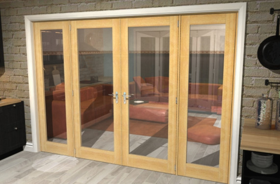 Oak Prefinished French Door Set - 30