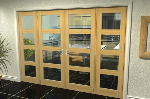 Prefinished Oak 4l French Door Set - 30