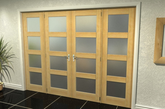 4l Frosted Oak French Door Set - 27
