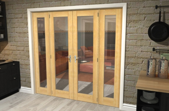P10 Oak French Door Set - 22.5
