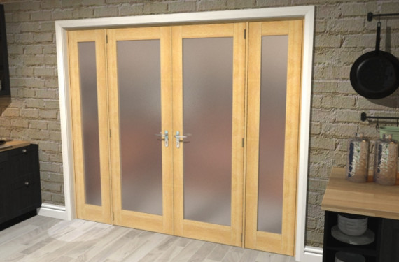 Obscure Oak French Door Set  - 22.5