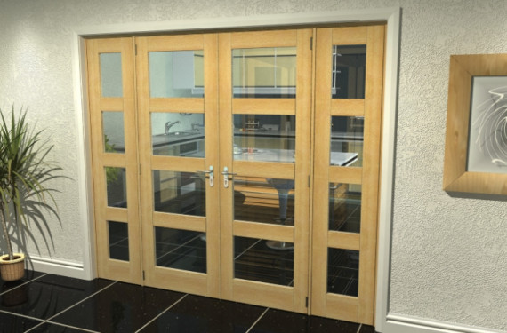 Oak 4l French Door Set  - 22.5