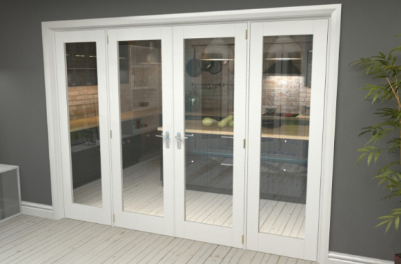 P10 White French Door Set  - 24