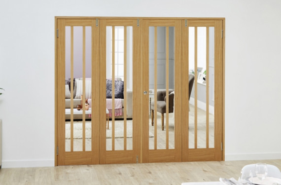 Lincoln Oak - 4 Door Frenchfold (4 X 610mm Doors )