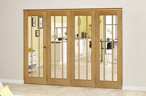 Lincoln Oak 4 Door Roomfold Deluxe (4 X 610mm Doors)