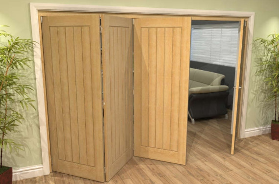 Mexicano Oak 4 Door Roomfold Grande (3 + 1 X 762mm Doors)