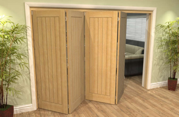 Mexicano Oak 4 Door Roomfold Grande (4 + 0 X 762mm Doors)
