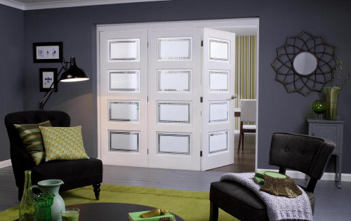 Nuvu Roomfold Contemporary White 4 Lite Range