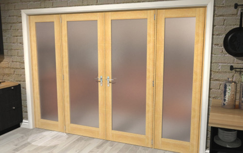 Obscure Glazed Oak Unfinished Room Divider Range