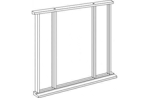 Universal Oak Vestibule Frame - Single Leaf Up To 84 X 36