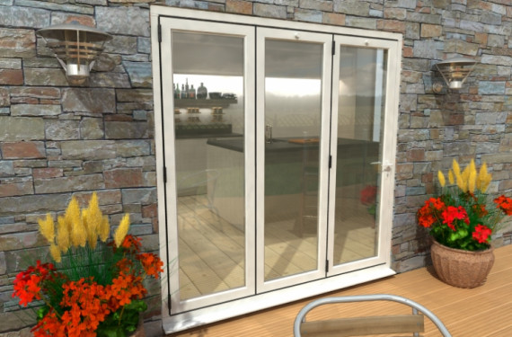 Part Q 2100mm White Aluminium Bifold Doors - Climadoor