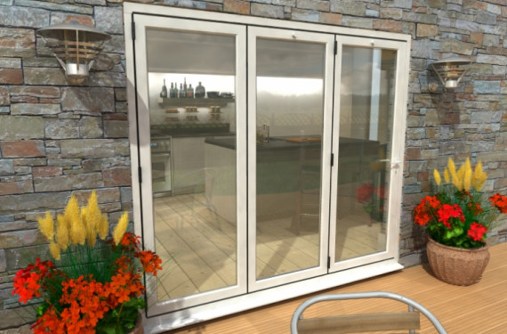 Part Q 2400mm White Aluminium Bifold Doors - Climadoor