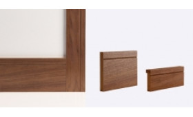 Walnut Shaker Skirting Board 147mm X 16mm X 3600mm Image