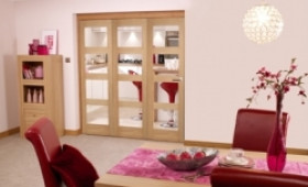 Oak Prefinished 4 Light Bifold Door (1800mm - 6ft) Set Image