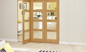 1800mm Oak Prefinished 4l Roomfold Deluxe  Image