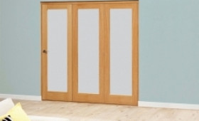 Frosted Glazed Oak - 3 Door Roomfold 1794mm X 2078mm - (1800mm Set) Image