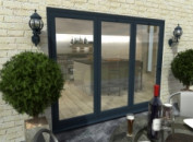 Climadoor Grey Aluminium Bi-folding Patio Doors Image