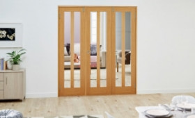 Aston Oak Frenchfold Room Divider Image
