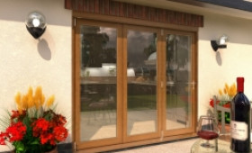 Climadoor Solid Oak Bifold Door 2400mm (8ft)  Image