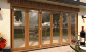 Climadoor Solid Oak Bifold Door 4200mm (14ft)  Image