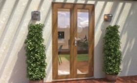 Climadoor Solid Oak French Doors 1200mm Image