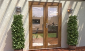 Climadoor Solid Oak French Doors 1500mm Image