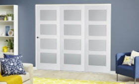 Contemporary White 4l Roomfold Deluxe Image