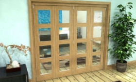 Glazed Oak Prefinished 4 Door 4l Roomfold Grande (3 + 1 X 533mm Doors) Image