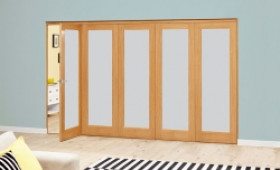Frosted Glazed Oak - 5 Door Roomfold Deluxe (5 X 2