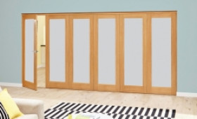 Frosted Glazed Oak - 6 Door Roomfold Deluxe (5+1 X 2