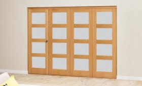 Frosted Prefinished 4l Roomfold Deluxe (4 X 610mm Doors) Image