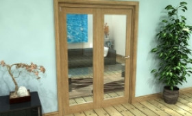 Glazed Oak Prefinished 2 Door Roomfold Grande (2 + 0 X 686mm Doors) Image