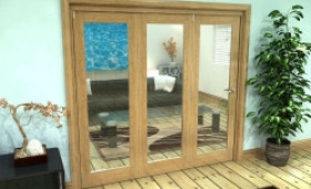 Glazed Oak Prefinished 3 Door Roomfold Grande (3 + 0 X 686mm Doors) Image