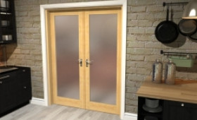 "Obscure Oak French Door Set  - 30"" Pair Image"
