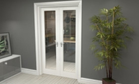 "P10 White French Door Set  - 21"" Pair Image"