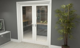 "P10 White French Door Set  - 30"" Pair Image"